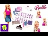 Кукла БАРБИ Сияющие Волосы распаковка игрушки, наносим блестки на волосы Mattel BARBIE Glitter Hair