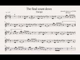 THE FINAL COUNTDOWN Bb inst (clarinete, trompeta, saxo sopranotenor) (partitura con playback)