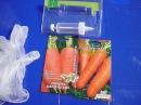 СУПЕР способ посадки моркови без прореживания Сеялка для моркови Посев морковь шприцем сеялкой