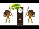 ЧАСИКИ Тик Так - Hickory Dickory Dock - Веселая развивающая песенка мультик для детей про животных