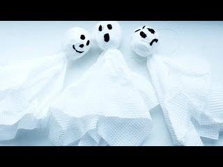 DIY: Гирлянда из приведений на Halloween!