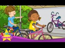 [Possessive] Whose bike is this? It's mine - Easy Dialogue - English educational animation for kids.