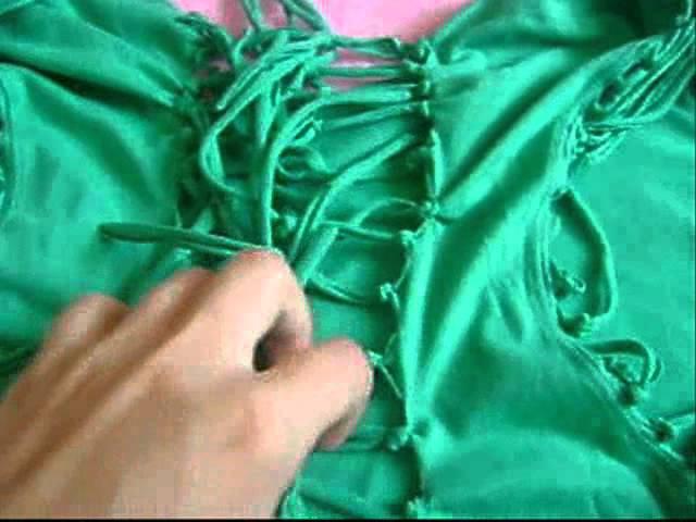 Как из футболки сделать платье (As of a T-shirt to make a dress)DIY