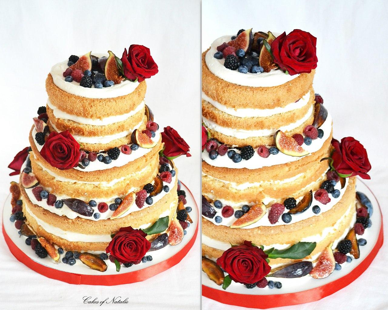 Торт свадебный фруктовый фото
