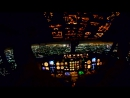 Cockpit View Emirates Night Landing in Dubai Airport 2014