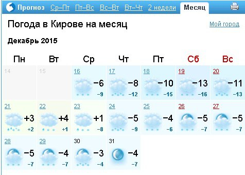 Погода в локня на месяц