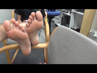 18 year old redhead Latina shows off her feet