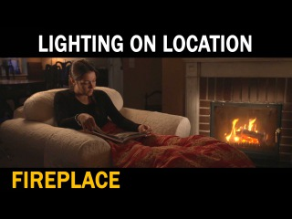 Lighting on location - Fireplace
