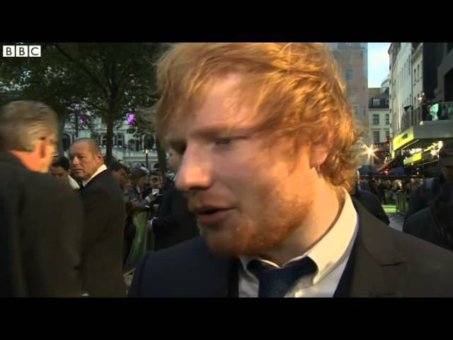 Ed Sheeran at premiere of his film Jumpers for Goalposts