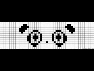 Как нарисовать панду по клеточкам | Рисунок по клеточкам