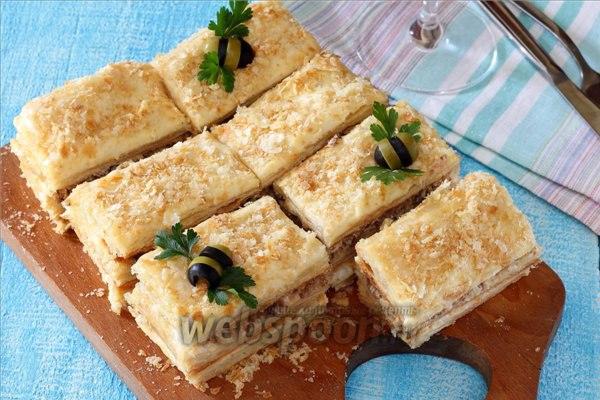 Закусочный торт наполеон рецепт с фото пошагово