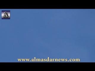Сирия.Ми-25 ВВС САР нанёс бомбовый удар по позициям боевиков в Дарайе,Дамаск.. №2.
