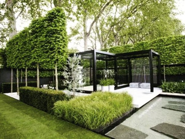 Ландшафтный дизайн современном стиле