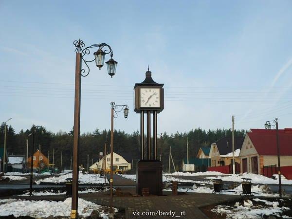 В новом парке Бавлов установили уличные часы