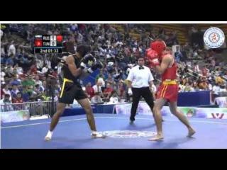 13th World Wushu Championships 2015-MEN 60kg Russia Ali Magomedov&Tunisia