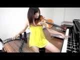 Girl plays three instruments at once! AMAZING!!
