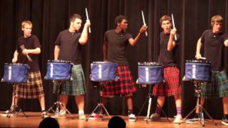 THE OFFICIAL Hot Scots drum line 2011 Nigel Talent Show at LHHS