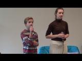 я с Аленой пою для детей сирот нашего города-2015г