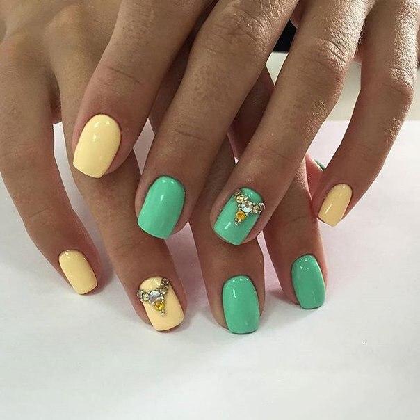 Фото дизайна ногтей шеллаком лето