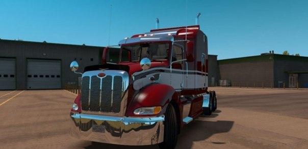 American Truck Simulator мод грузовик Peterbilt 386