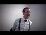 Benedict Cumberbatch stripping for Mark Gatiss