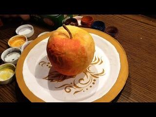"Как сделать Папье-маше? ""Яблоко на Тарелке"" / How to make Papier-mache? ""Apple on a Plate"""