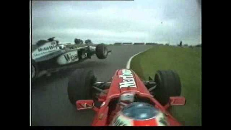 Schumacher collides Coulthard - Argentina 1998
