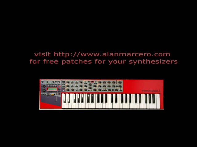 Virtual Analog Synthesizer Clavia Nord Lead 3 Trance Presets