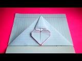 оригами сердечко-конверт / идеи для личного дневника(лд)#6 / origami envelope heart bookmark