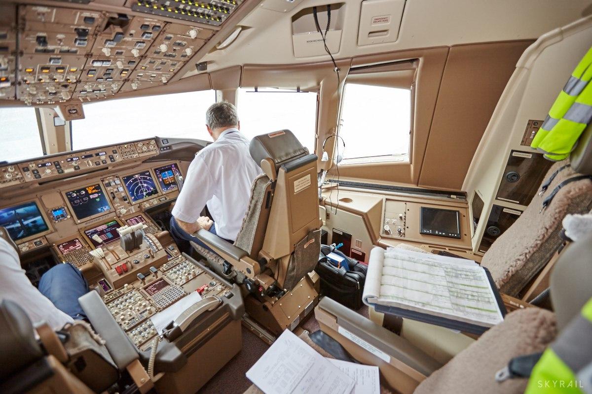 Боинг посадка из кабины
