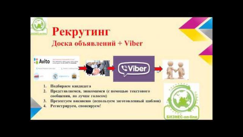 Рекрутинг в Viber и WhatsApp, увеличиваем товарооборот не выходя из дома