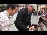 Spontaneous Jazz duet on Street Piano in Paris