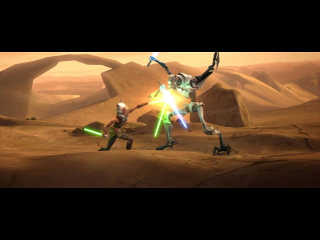 Star Wars: The Clone Wars - Ahsoka Tano vs General Grievous [1080p]