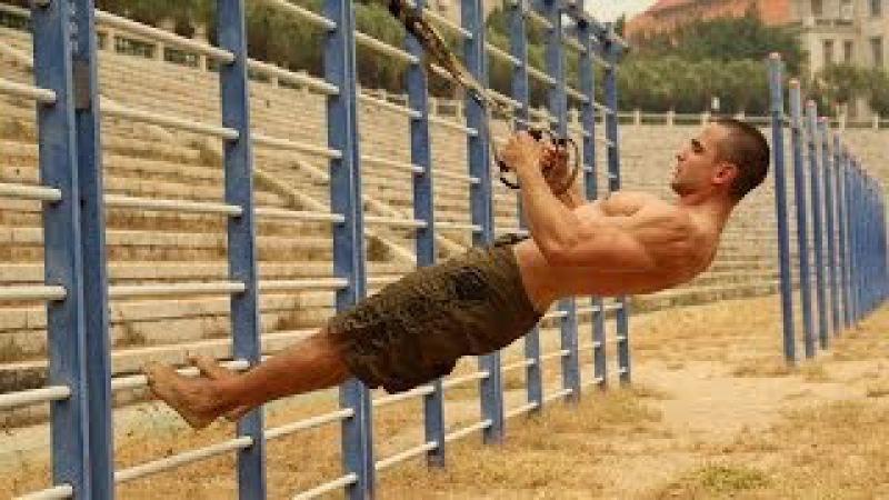 Вова PULLER тренировка с петлями TRX (outdoor TRX functional training)