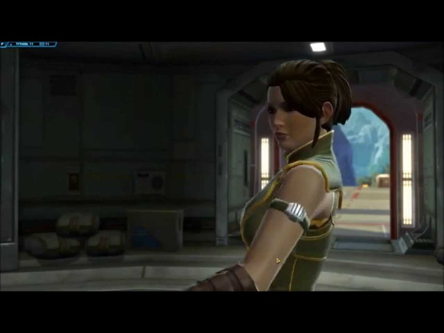 SWTOR Young Satele Shan at arrives at training ground Jedi Consular story beginning