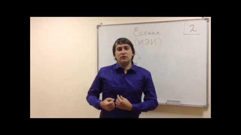 Урок 13 Есенин ИЭИ