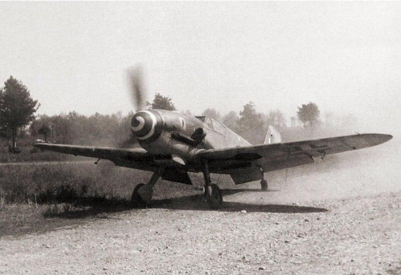 Немецкий истребитель Мессершмитт Bf.109G-10/AS
