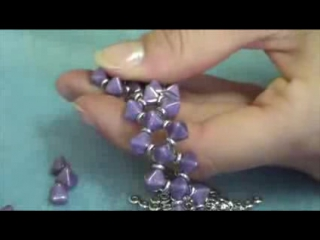 Bracciale Cassiopea Pyramid Beads e Mezzi Cristalli e O Beads - PerlineBijoux.com
