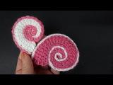 Crochet shell pattern Как вязать ракушку Вязание крючком 342