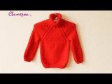 Вязание свитера спицами ❄ - knit a sweater for baby or toddler ДЕТСКИЙ СВИТЕР knitmom