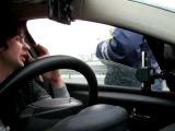 ГАИ пост на М4 Шахты попытка развода ИДПС на скорость