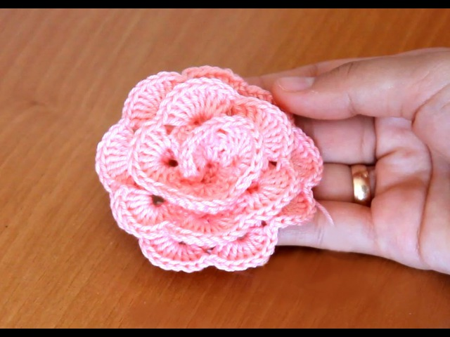 РОЗОЧКА КРЮЧКОМ how to knit a rose
