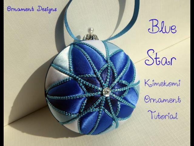 Blue Star No Sew Fabric Christmas Ornament Tutorial