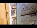 Как обшить сруб (брёвна) гипсокартоном - установка направляющих реек