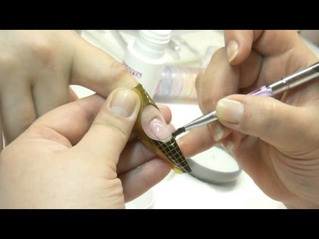 Как нарастить ногти гелем Наращивание ногтей