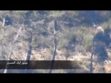 Сирия.17-02-2016.Обстрелы скоплений боевиков из ПТРК в районе Kinsabba,провинция Латакия