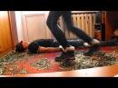 Girl dance trample