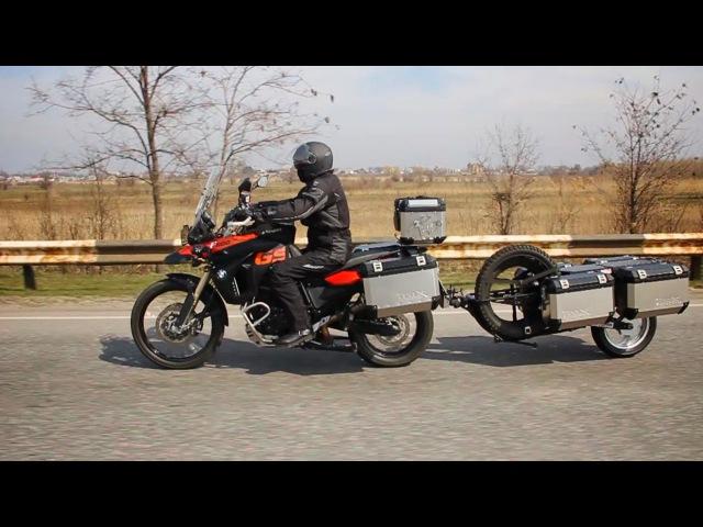 BMW GS 800 offroad Trailer C-WAY Мотоприцеп Мотоцикл БМВ Гусь moto