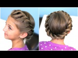How to create a Crown Twist Braid | Updo Hairstyles