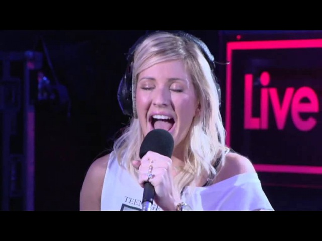 Ellie Goulding performs 'Burn' in the Live Lounge